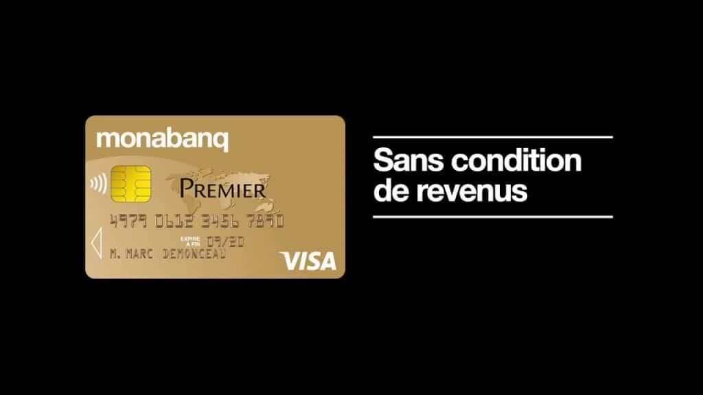 Carte banacaire visa premier Monabanq : carte sans condition de revenus pour banque en ligne