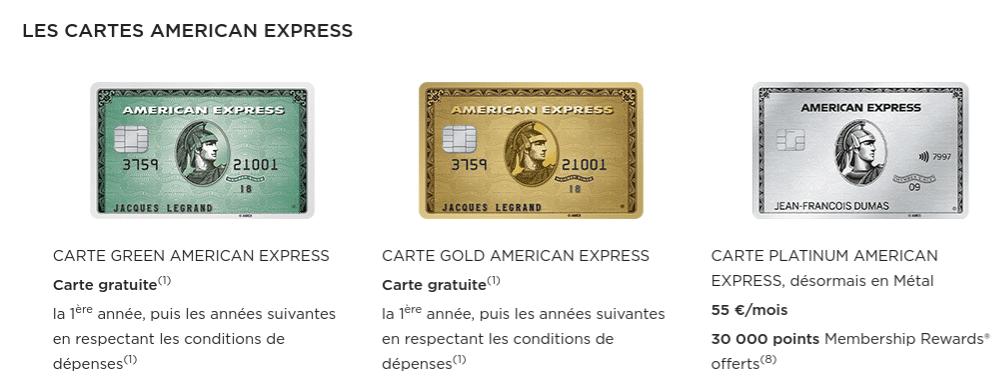 Carte Américan Express :  SErvice de carte bancaire international Fortunéo