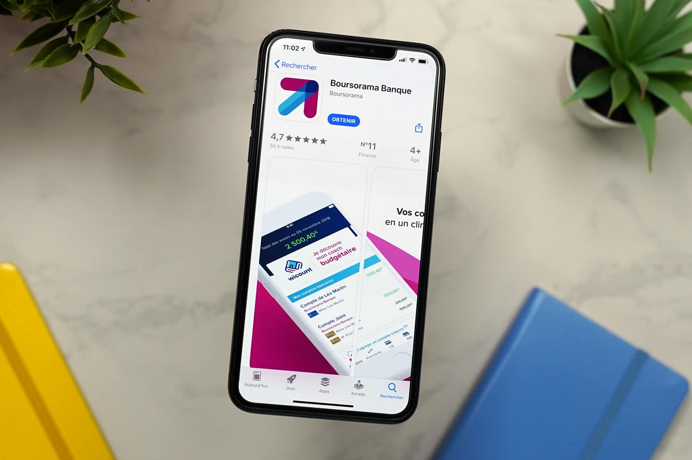 Boursorama Banque : application mobile