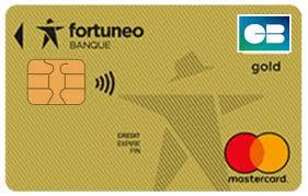 Gold Mastercard Fortunéo : carte bancaire  haut de gamme