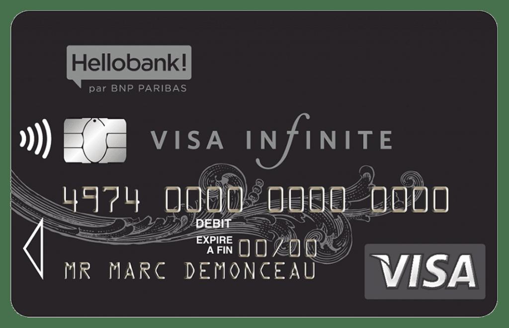 Carte Infinite à choisr chez HelloBank