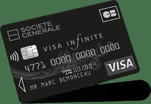 Carte Visa Infinite Société générale : CB à choisir