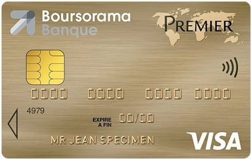 Visa premier Boursorama : carte gratuite à choisir  avec condition de revenus .