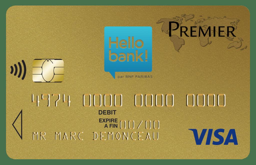 Carte Hello Bank : choisir la carte de crédit Visa Premier