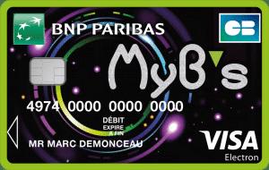 Carte MYB'S / carte bancaire pour les jeunes à BNP Paribas