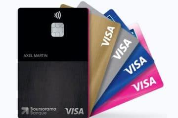 Boursorama Banque : Les cartes bancaires à choisir