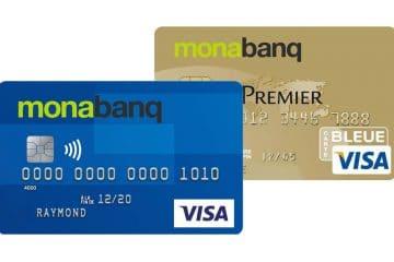 Cartes Bancaire Monabanq à choisir : Visa classic, one line , premier