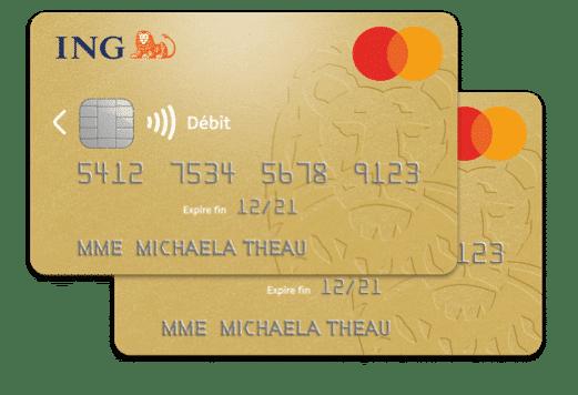 Carte bancaire ING Intégrale du service en ligne : carte gratuite de la banque ING .