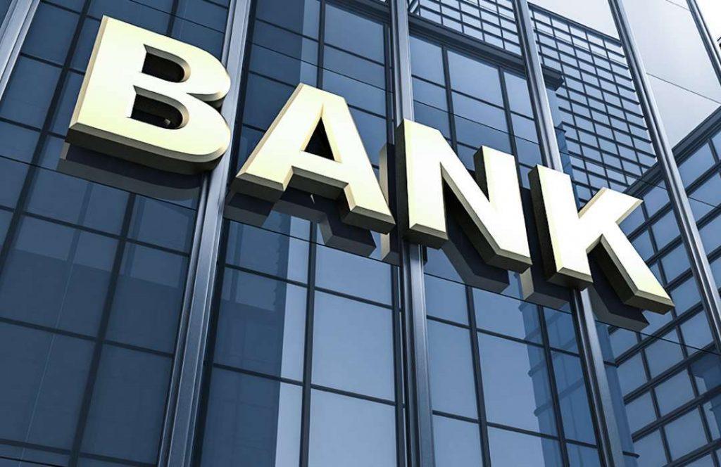 Devanture d'une banque