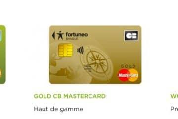 Carte Fortunéo : 3 CB de la banque en ligne