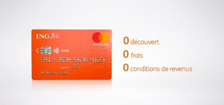 CB Essentielle ING, banque en ligne, inscription gratuite : ouverture de compte sans condition de revenus
