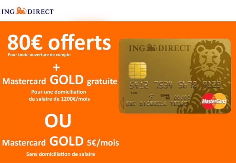 ING prime de bienvenue lors d'une souscription pour une banque en ligne