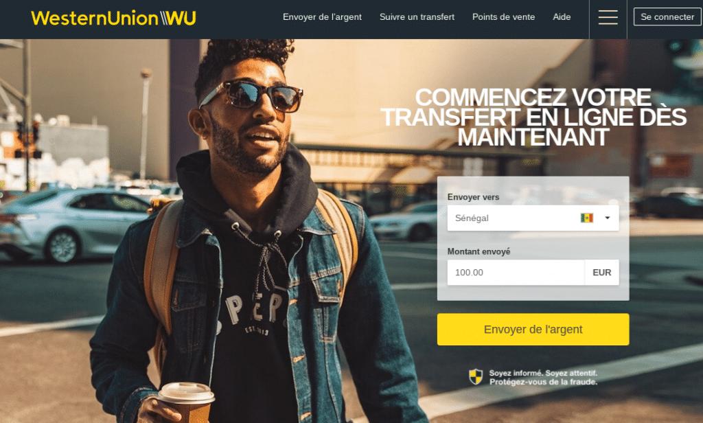 Accueil Western Union en ligne