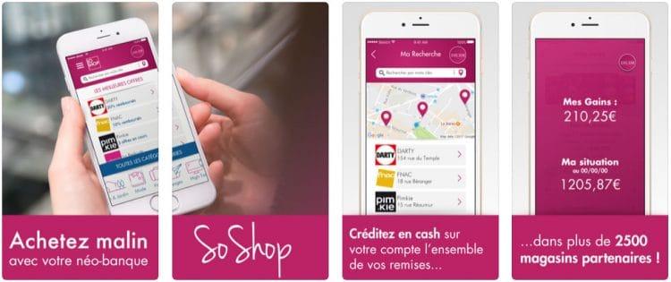 application mobile Soshop