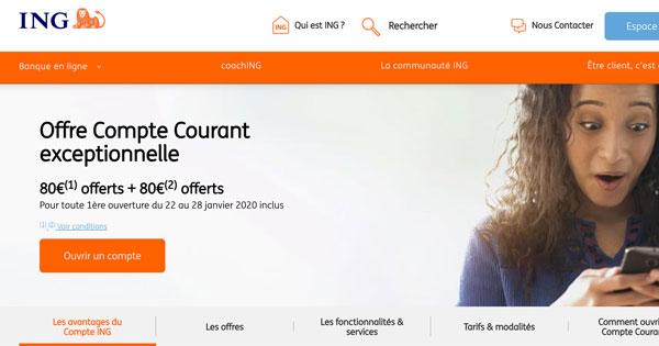 Banque en ligne qui permet de gagner de l'argent à l'ouverture du compte : 80 euros de bienvenue