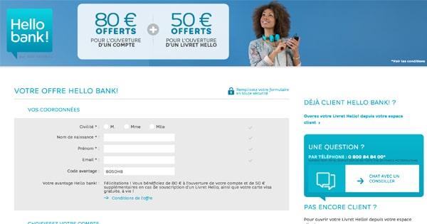 Recevoir de l'argent lors de l'ouverture d'un compte chez Hello Bank