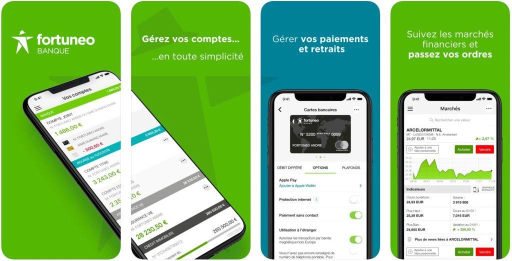 Fortunéo : banque en ligne, application mobile