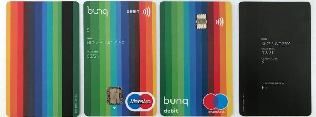 compte et cartes bancaires bunq